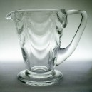 Thomas Webb Arts & Crafts Wave Moulded Glass Jug c1920