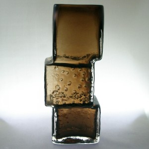 Whitefriars 9673 Cinnamon Cased Glass Drunken Bricklayer Vase