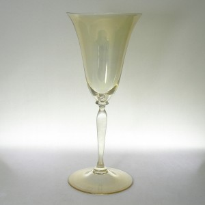 Leerdam Andries Dirk Copier Gold Iridescent Romanda Wine Glass 1920s