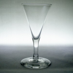 Victorian Antique Funnel Bowl Wine Glass c1880