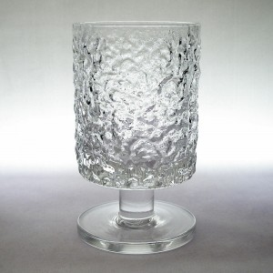 Whitefriars Glacier Large Wine Glass Geoffrey Baxter 1960s