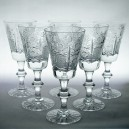 Set of Six Vintage Bohemian/ Czech Crystal Sherry or Port Glasses