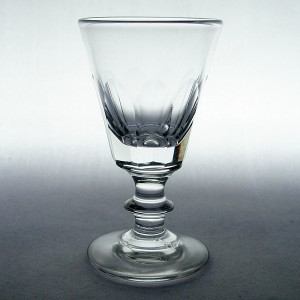 Early Victorian Antique Bucket Bowl Miniature Dram Glass c1860