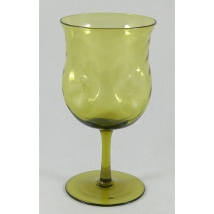 Walsh Arts & Crafts Mustard Green Wine Glass c1900