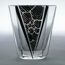 Karl Palda Czech Art Deco Modernist Geometric Cocktail Glass c1930