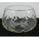 Stevens & Williams Diamond Moulded Crystal Glass Bowl c1920
