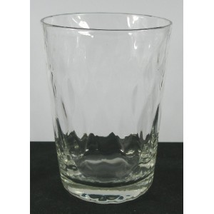 Edwardian Antique Diamond Moulded Tumbler Glass c1910