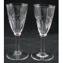 Pair Edwardian Antique Funnel Bowl Cordial Glasses c1900