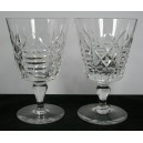 Pair Thomas Webb Crystal Large Wine Glasses Signed
