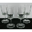 Four Scandinavian Retro Sherry Glasses Disc Foot 1960s
