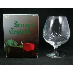Stuart Crystal Canterbury Brandy Glass Labelled & Boxed