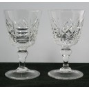Pair Thomas Webb Crystal Liqueur Glasses Signed c1960