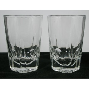 Pair of Victorian Antique Cut Glass Ale Tumblers c1880