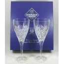 Pair Edinburgh Crystal Millennium Large Wine Glasses